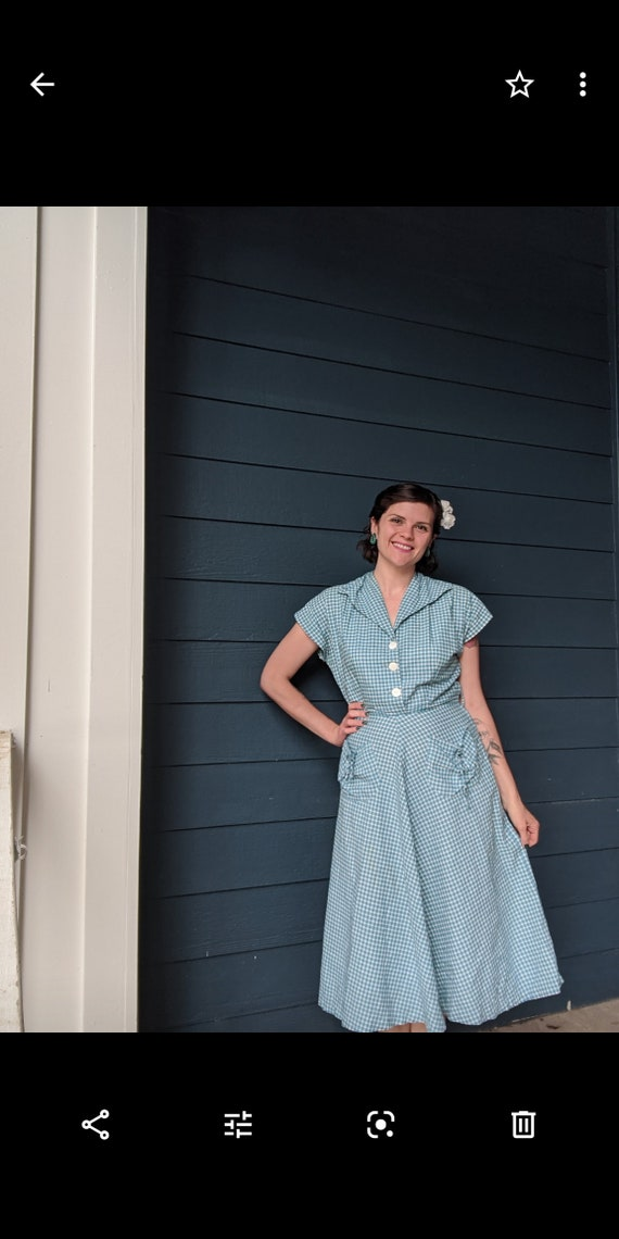 Vintage 1940s/50s Plaid Dress - image 5