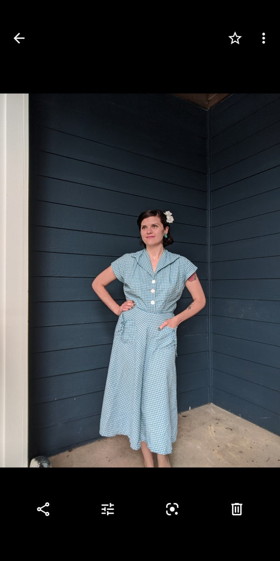 Vintage 1940s/50s Plaid Dress - image 2