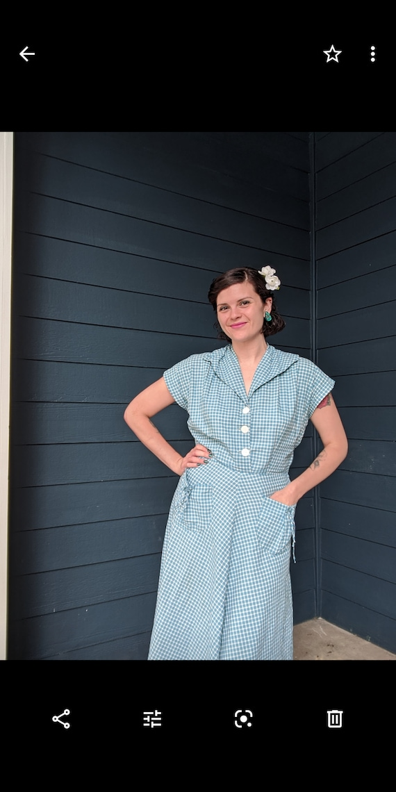 Vintage 1940s/50s Plaid Dress