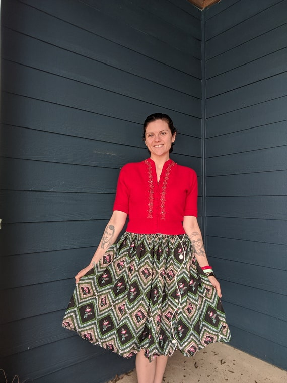 Vintage 40s Knit Cardigan - image 7