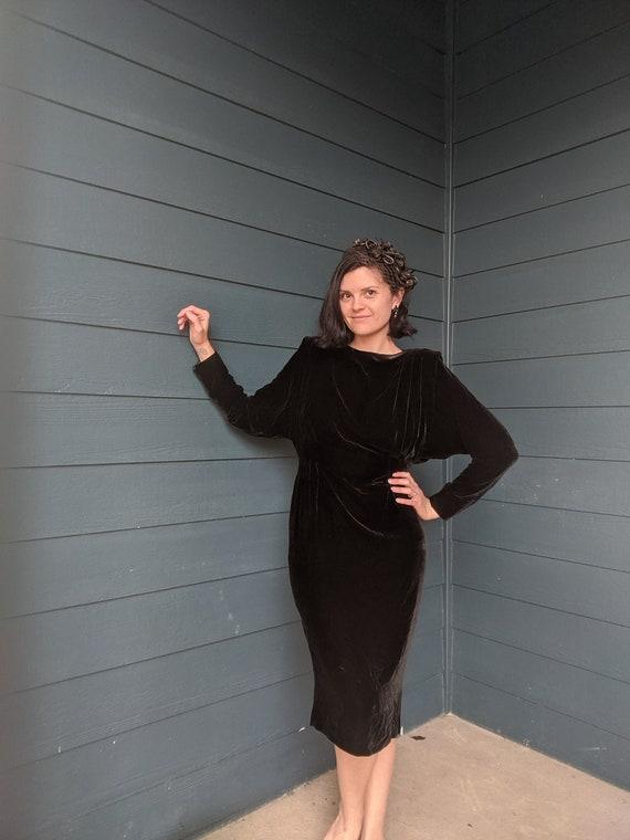 Vintage Velvet Batwing Dress