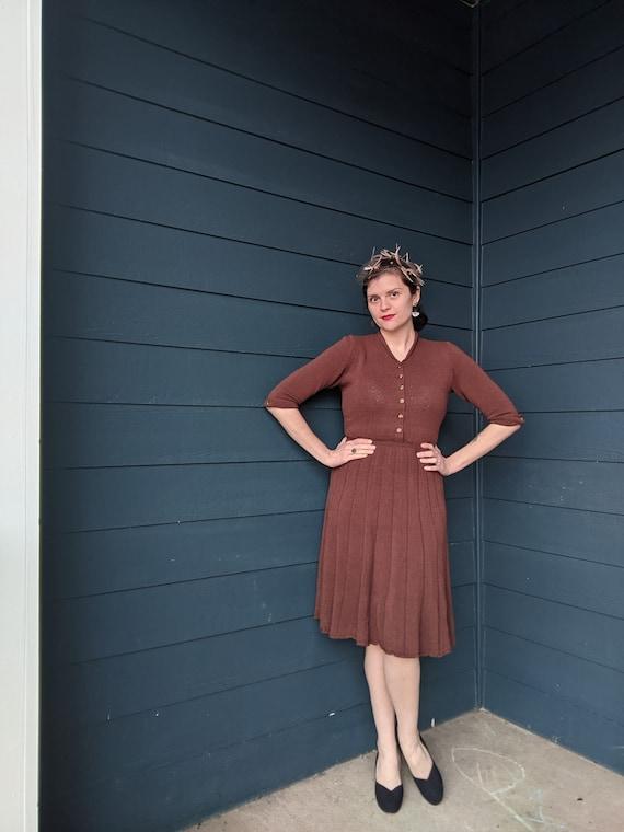 1940s/50s Knit Sweater Dress