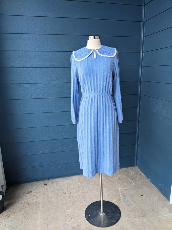 Vintage 1930s Style Angora Sweater Dress