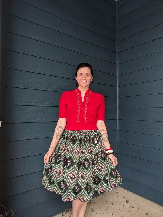 Vintage 40s Knit Cardigan - image 3