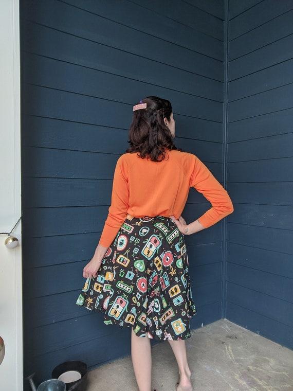 Vintage 1950s Novelty Print Skirt - image 3