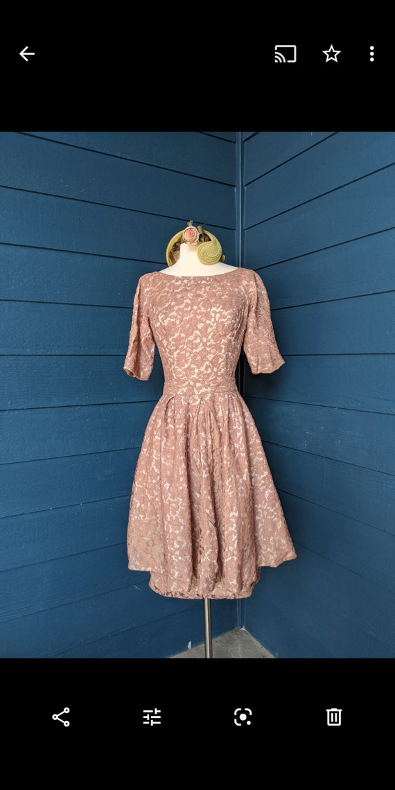 Vintage 1960s Lace Peplum Dress Set