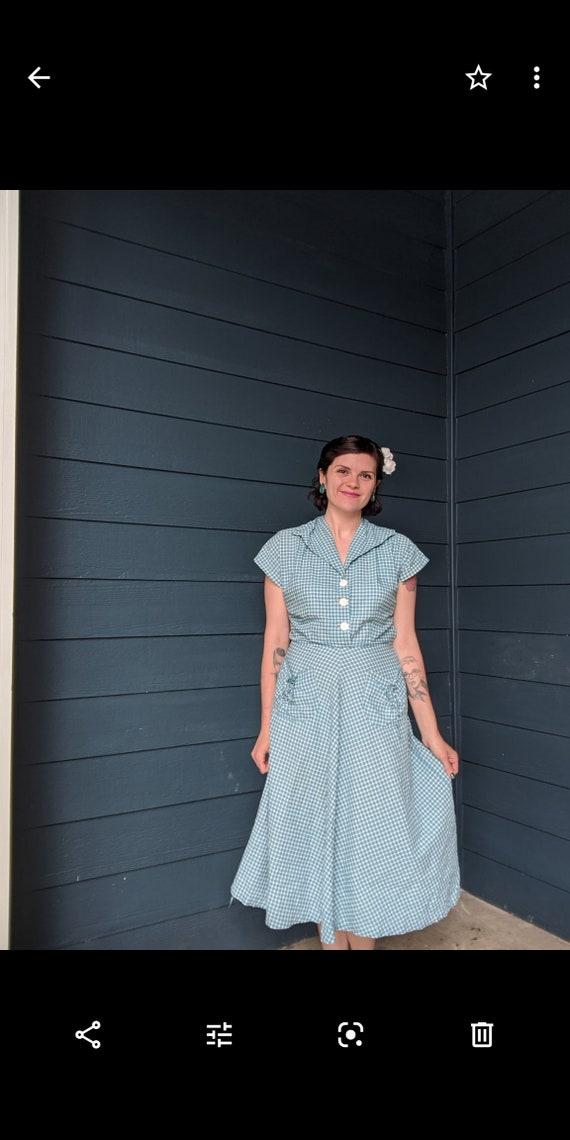 Vintage 1940s/50s Plaid Dress - image 4