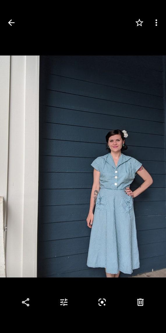 Vintage 1940s/50s Plaid Dress - image 6