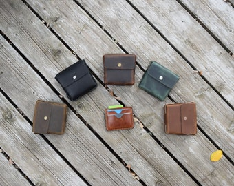 Small Leather Belt Pouch in Five Color Options - Belt Pouch - LARP, Renaissance, Camping, Hiking - Made to Order