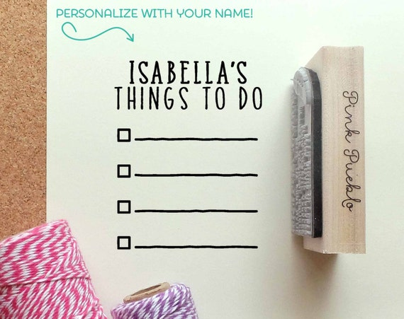 personalized planner stamp personalized to do list rubber etsy