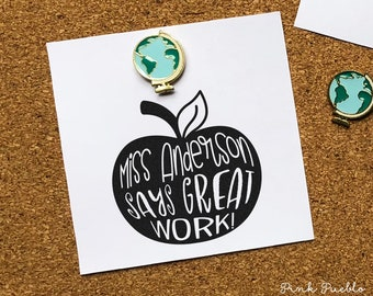 Personalized Teacher Stamp, Teacher Stamp for Grading or Teacher Gifts