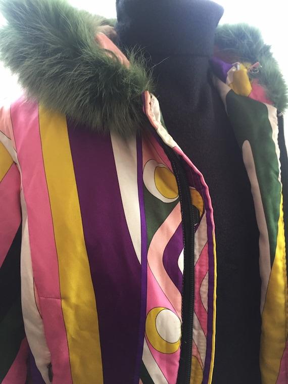 Supercolorful Emilio Pucci's puffed jacket