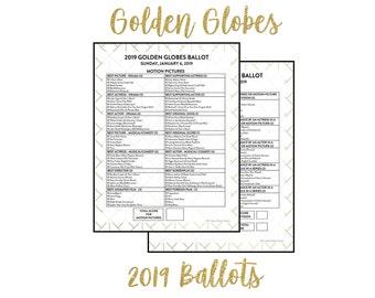 photograph relating to Golden Globe Ballot Printable named Golden world Etsy