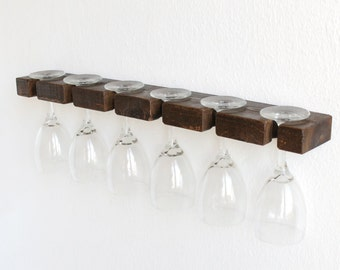 more colors 24 rustic wine glass rack hanging - Hanging Wine Glass Rack