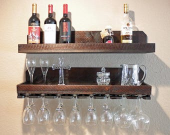 "32"" Rustic Wine Rack 