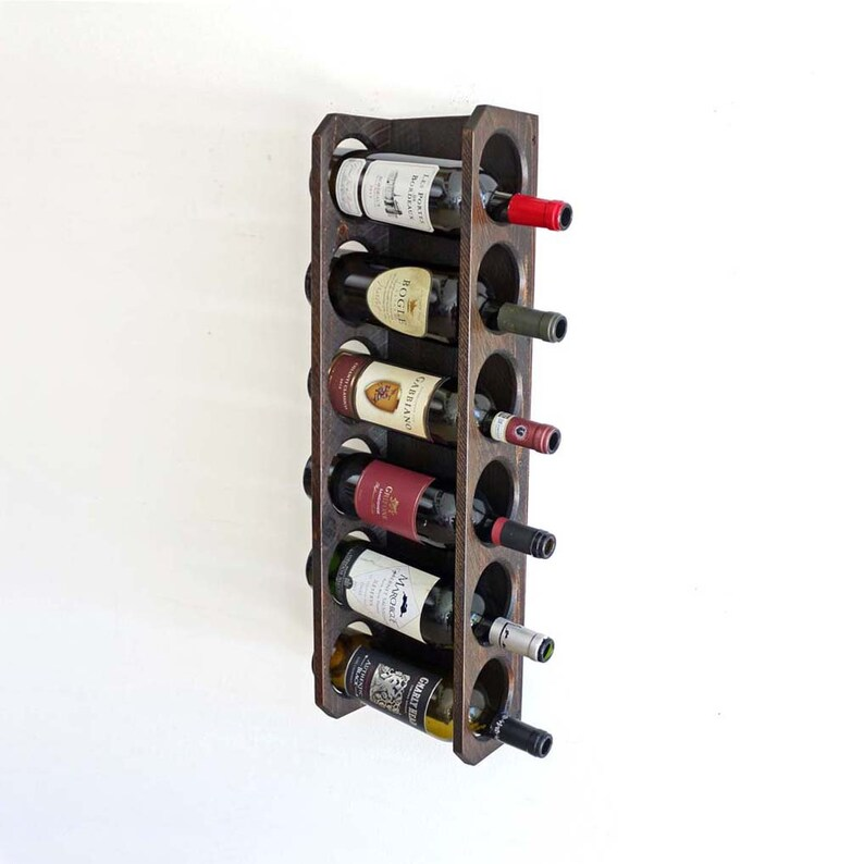 Rustic Wine Rack Home Bar Cabinet Wood Wine Bottle Display Etsy