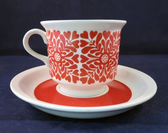 Arabia Finland, Tytti, Coffee cup and saucer.
