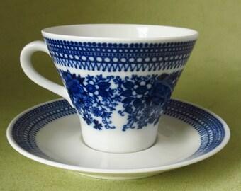 Arabia Elisabet,  Raija Uosikkinen, coffee cup and saucer.