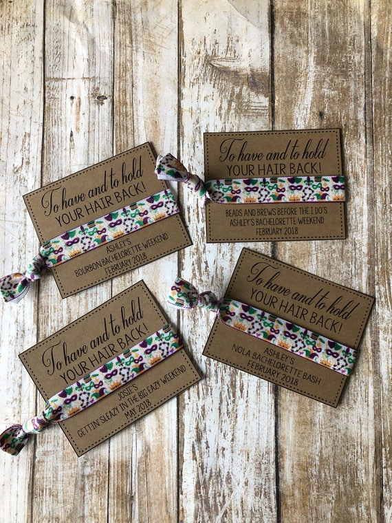 New Orleans Wedding Favorsto Have And To Hold Your Hair Etsy