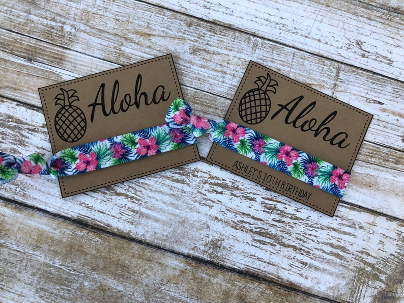 3e2a157b6aee Hawaiian Hibiscus Hair Ties Hawaiian Princess Party | Etsy