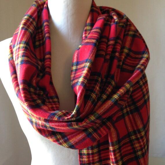 Foulard à carreaux en flanelle rouge et bleu, rouge à carreaux en flanelle,  écharpe de flanelle, ... 20de107570f