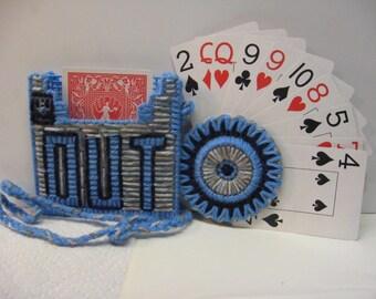 hand and Foot Card Holder Set Lanyard