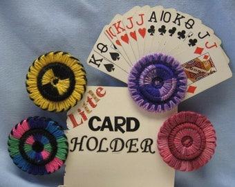 Yarn Playing Card Holder.