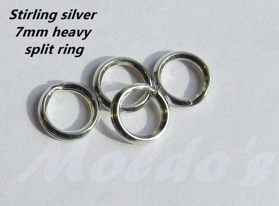 for pendants// charms 5mm 7mm 925 Sterling Silver HEAVY SPLIT RING