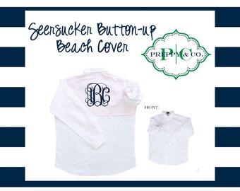 Swim Coverup - Beach Cover Up - Customize with Vinyl - Monogram Gift