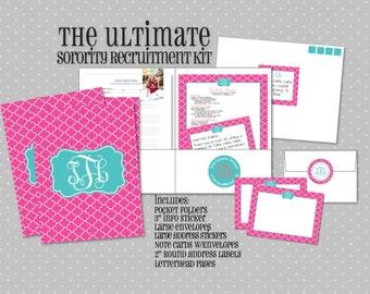 Ultimate Sorority Rush Kit - Sorority Recruitment Folders