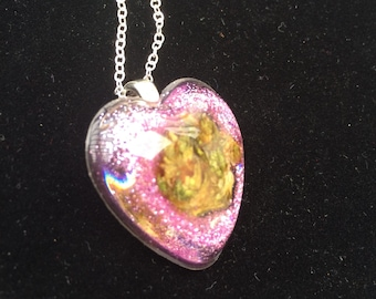 Blaze Love Pendant-Weed-Heart Necklace-Weed Pendant-Valentines Day-Weed-Heart Jewelry-Gifts for Her-Stoner Gift