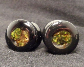 Onyx Cannabis Filled Plugs-Weed Plugs-Onyx Plugs-Real Weed Plugs-Real Weed Jewlery-Ganja Jewelry-Ganja-Plugs-Gifts for Stoners-Weed