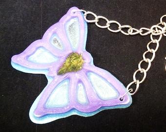 Butterfly Cannabis Pendant-Weed Jewelry-Statement Necklace-Butterfly necklace-Real weed jewelry-Stoner gift-420-Marijuana pendant