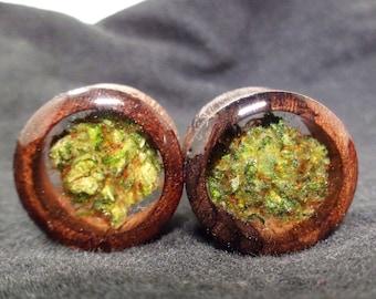 Weed Plugs-Organic Wood Cannabis Filled Plugs-Weed Gifts-Weed Gifts Boyfriend-Marijuanna-Organic Wood Plugs-Weed-Stoner Plugs-Wood Plugs