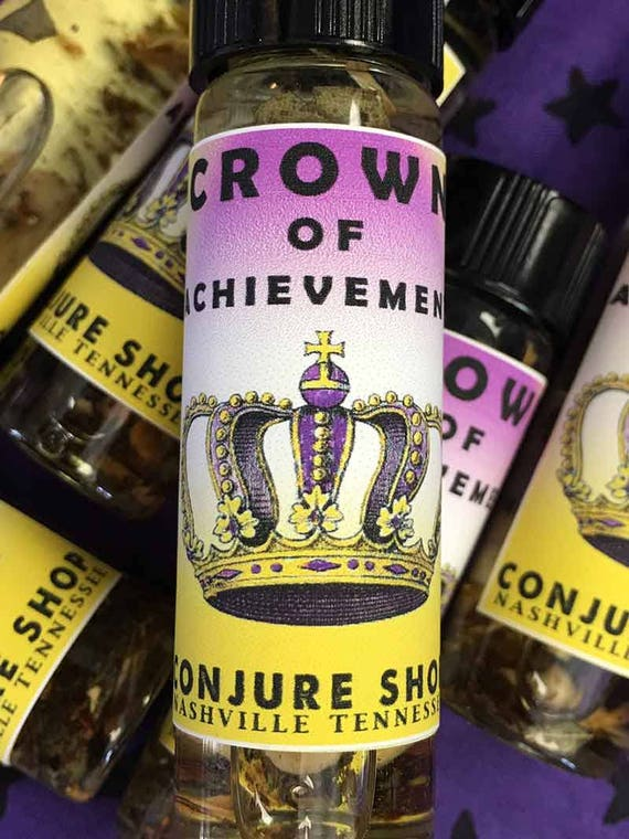 Crown of Achievement oil scent - Crown of Success - hoodoo - pagan -  witchcraft