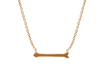 14k gold arrow necklace