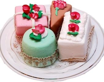 Fake Petit Fours Mini Cakes 4 Piece