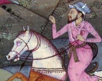 India miniature watercolor reproduction