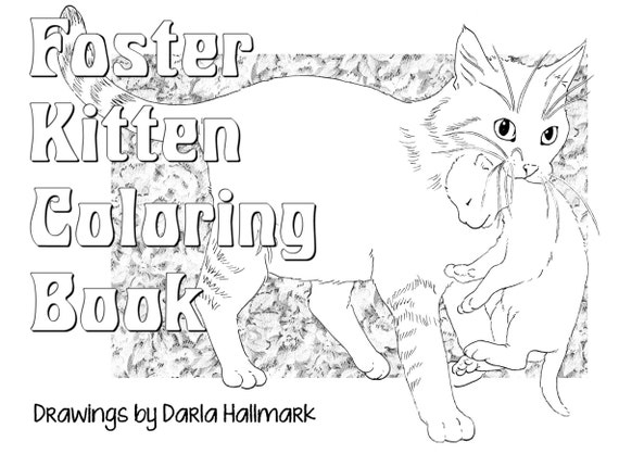 Foster Kitten Coloring Book | Etsy