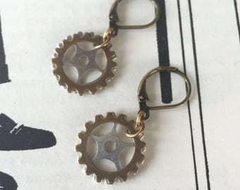 Simple Gear Earrings