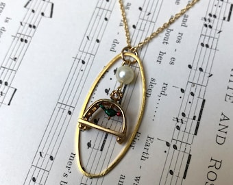 Vintage Bird Cage Necklace
