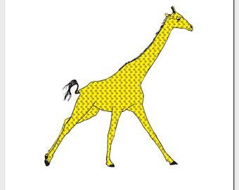 Square Giraffe Card