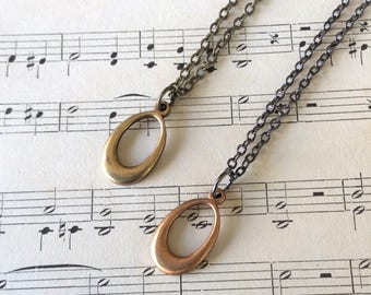 Small Oval Necklace