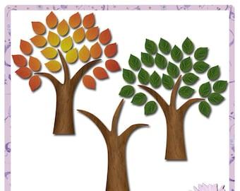 Seasonal Trees, Four Seasons, Tree, Digital Scrapbooking, digiscrap, scrapbook, paper crafting, card making, home decor, craft projects