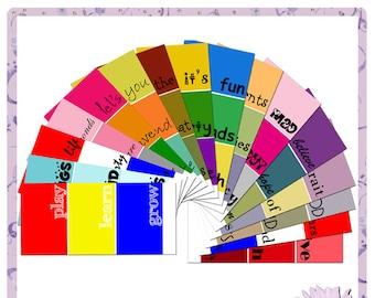Paint chips, Paint chip Sayings, Paint chip Quotes, quotes, journaling, Paintchip, Paintchips, paint samples