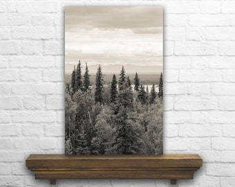 Mountain Photography - Mountain Photo - Mountain Decor - Mountain Decoration - Mountain Print - Black and White Photo - Mountain Home Decor