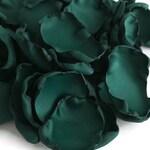 Emerald green flower petals, green rose petals, emerald table decor, flower girl petals, wedding decor