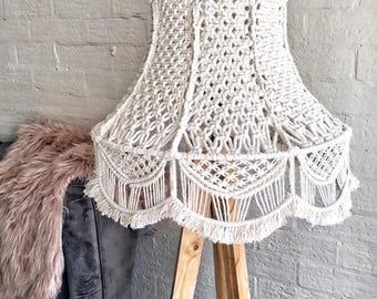 Macrame Lamp Shade/ Macrame Lamp/ Macrame