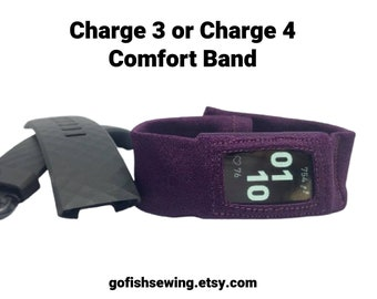 Charge 3 or Charge 4, Fitbit Charge 3 or Fitbit Charge 4 comfort band, custom made to order, you choose color and size
