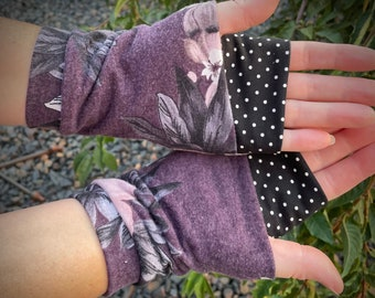 """Wrist warmers, fingerless gloves, """"style #4"""" ready-to-ship, custom available"""